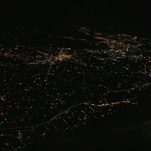 The view you see when you take a 11:45pm flight Taipei Taiwan View From An Airplane Night City Lights Night Lights