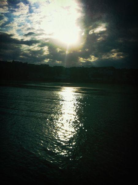 Sea Sun Reflection