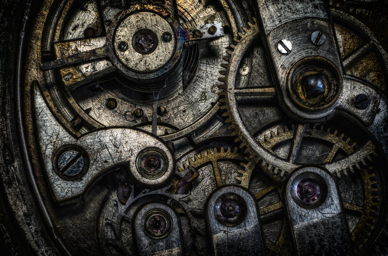 Clock rustic Backgrounds Clock Clockworks Close-up Day Full Frame Gear Indoors  Machine Part Machinery Manufacturing Equipment Metal No People Technology Time Wheel