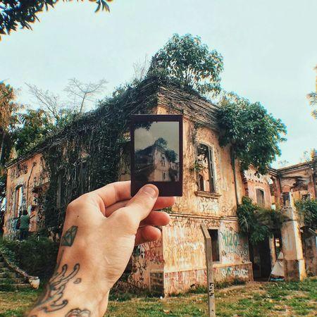 Photographic Memory Instax Polaroid Instantphoto Memory Tattoo Hand House Abandoned