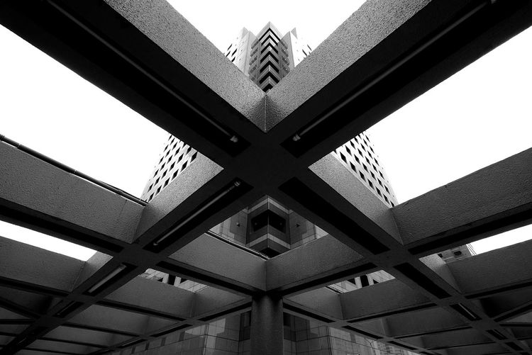 Give thanks... Architecture Streetphotography Light And Shadow Singapore Walk This Way Urban Exploration Urban Jungle From Where I Stand Check This Out Justgoshoot Pattern, Texture, Shape And Form Visualsgang Showcase April Wide Angle ExploreSingapore Building Sky And Clouds Sky Black And White Blackandwhite Symmetry Symmetrical