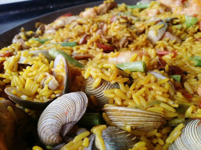 Food Food And Drink Close-up Freshness Indoors  No People Healthy Eating Paella! Spain Food PaellaValenciana Clams Shrimps Day day