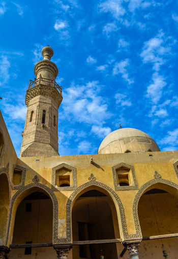 Old Mosque Architecture Blue Blue Sky Building Exterior Built Structure City Day Dome Egypt Low Angle View Mosque No People Old Building  Old Mosque Outdoors Pilgrimage Place Of Worship Religion Sky Travel Destinations