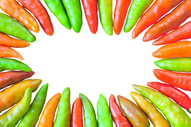 Backgrounds Chili  Chilli Choice Close-up Food Food And Drink Freshness Green Color Healthy Eating Indoors  Isolated Multi Colored No People Ready-to-eat Red Variation Vegetable