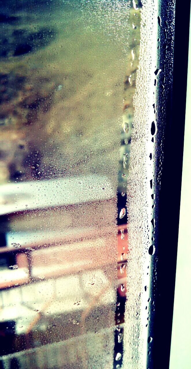 water, glass - material, transportation, land vehicle, car, mode of transport, window, close-up, wet, drop, day, no people, backgrounds, looking through window, indoors, car wash, nature