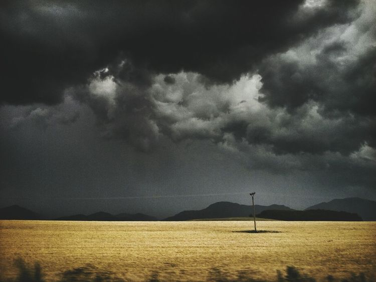 Agricultural Land Horizons Dramatic Sky Landscape Landscape Layers Mountains And Field