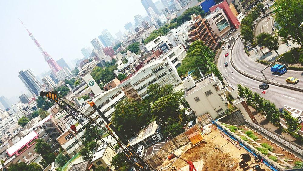 東京タワー 六本木 Tokyo,Japan Tokyo Tower Roppongi Town Cars Colorful