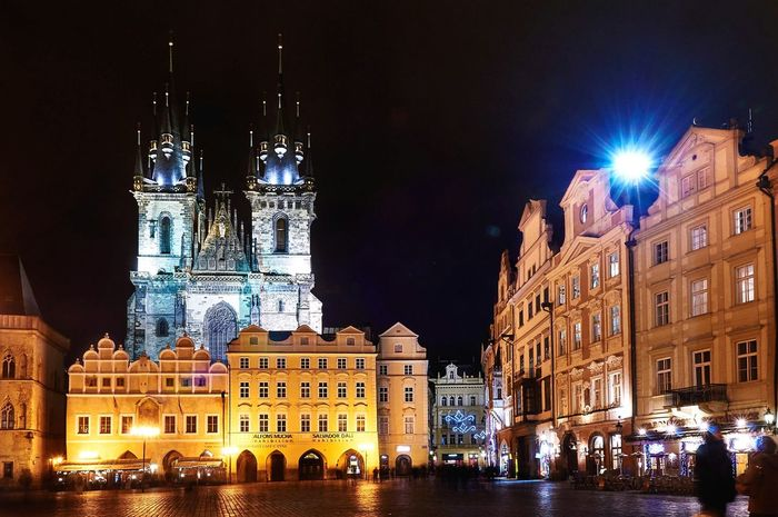 View on Týnský Chrám  in Prague, Travel Photography Traveling Long Exposure Cityscapes Old Buildings Eye4photography  Enjoying Life
