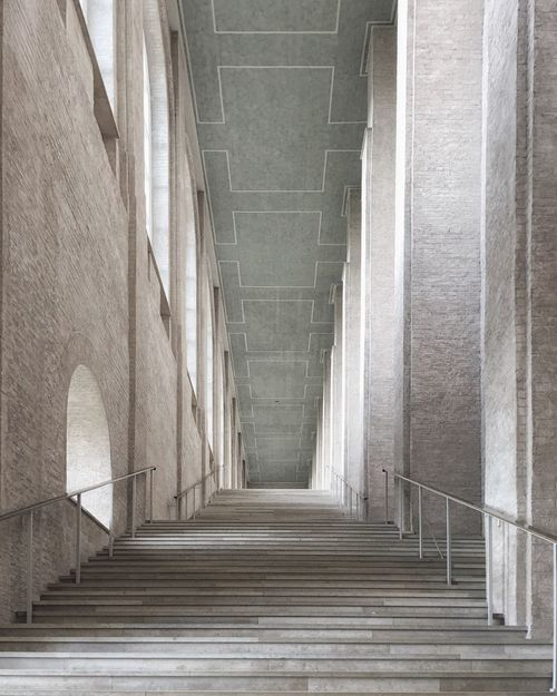 Alte Pinakothek Munich Alte Pinakothek Munich Architecture Built Structure Staircase Steps And Staircases No People Building The Way Forward Pattern Corridor Diminishing Perspective Wall - Building Feature
