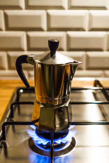 Close-Up Of Kettle In Kitchen