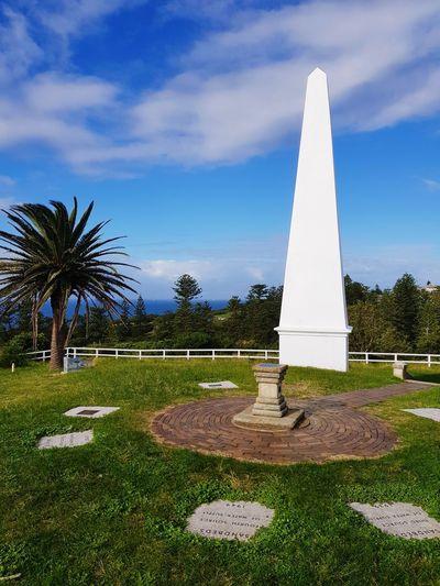 Obelisk Outdoors Newcastle Tree Peak No People Grass Waterboard Park