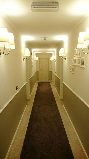 Indoors  Corridor Illuminated No People Shining