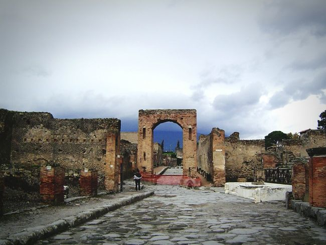 Taking Photos Check This Out Hello World Traveling Ancient City Italy Street Ancient Ruins Pompeii  Ancient Architecture Travel Ancient Civilization Architecture_collection Architecture Cloud And Sky