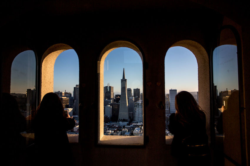 Arch Architecture Building Exterior Built Structure City Cityscape Cultures Indoors  Night People Photography Silhouette Sky Skyscraper Transamerica Pyramid TransAmericaBuilding Travel Travel Destinations Urban Skyline View