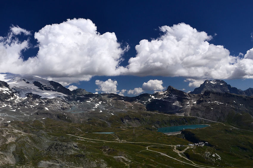 Panoramic View Road Alps Beauty In Nature Cloud - Sky Day Italy Lake Landscape Landscapes Mountain Mountain Lake Nature No People Outdoors Scenics Sky Tranquil Scene Tranquility