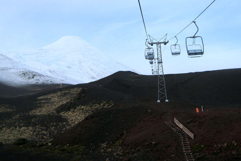Beauty In Nature Chairlift Cold Temperature Majestic Mountain Mountain Range Nature Osorno Chile Scenics Ski Lift Snow Snowcapped Mountain Tourism Tranquil Scene Tranquility Volcano Winter