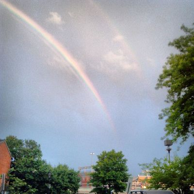 Hints of a double rainbow!