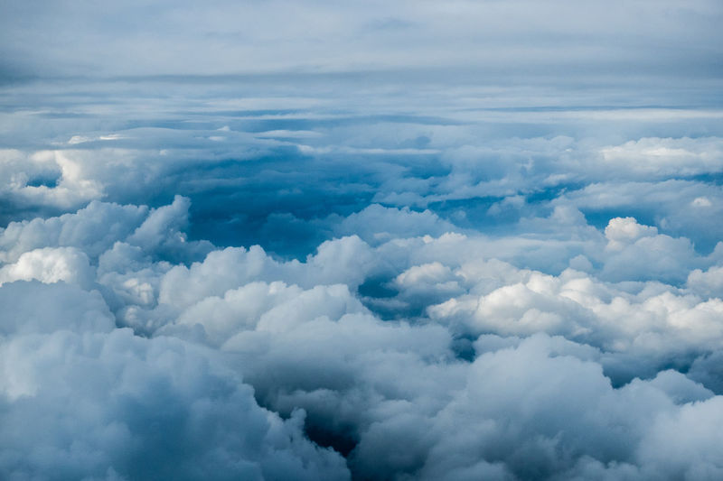 Above Aerial View Blue Blues Cloud - Sky Clouds Cloudscape Dramatic Sky Heaven Idyllic Painting Scenics Weather