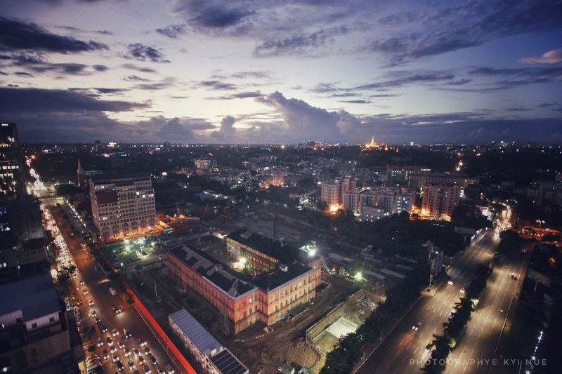 Evening in Yangon , Myanmar. Burma Photography Evening Sky Evening Photography Yangon Evening Yangon Downtown Area Yangon Rangoon Myanmar Burma Photography© Kyi Nue EyeEmNewHere