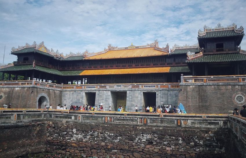 Architecture Built Structure Travel Destinations Tourism Travel Building Exterior Outdoors History Historical Building Huế VSCO Vscogood EyeEm Vietnam Viet Nam Vacations Architecture Eyeemphotography Streetphotography Taking Photos