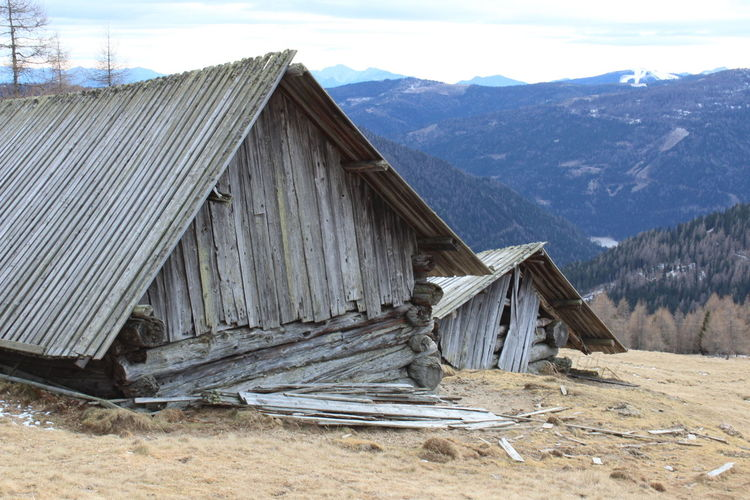 Outdoors No People Day Nature Wood - Material Log Cabin Sky Mountain