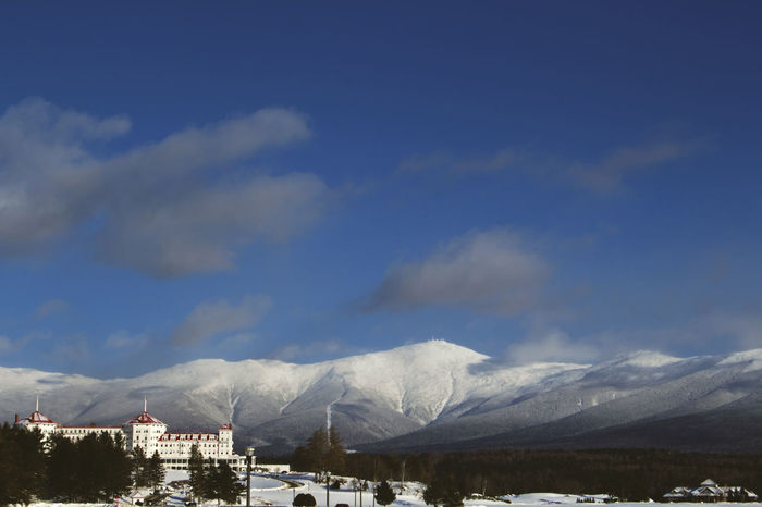 Mount Washington  Architecture Beauty In Nature Building Exterior Built Structure Cloud - Sky Cold Temperature Day Landscape Mountain Mountain Range Nature New Hampshire No People Outdoors Range Scenics Sky Snow Snowcapped Mountain Tranquil Scene Tranquility Weather Winter