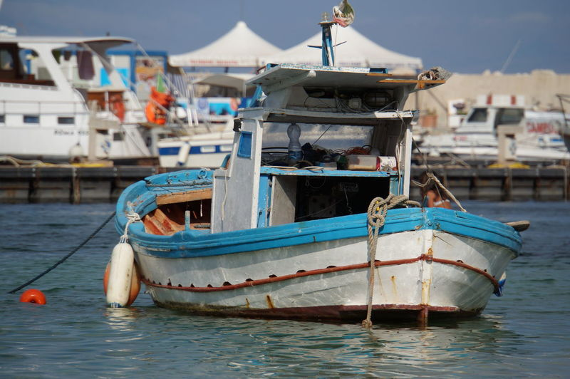 Boat Boats Day Fisherman Fisherman Boat Fishing Boat Harbor Mode Of Transport Moored More Nautical Vessel No People Outdoors Port Sea Sky Transportation Water Waterfront