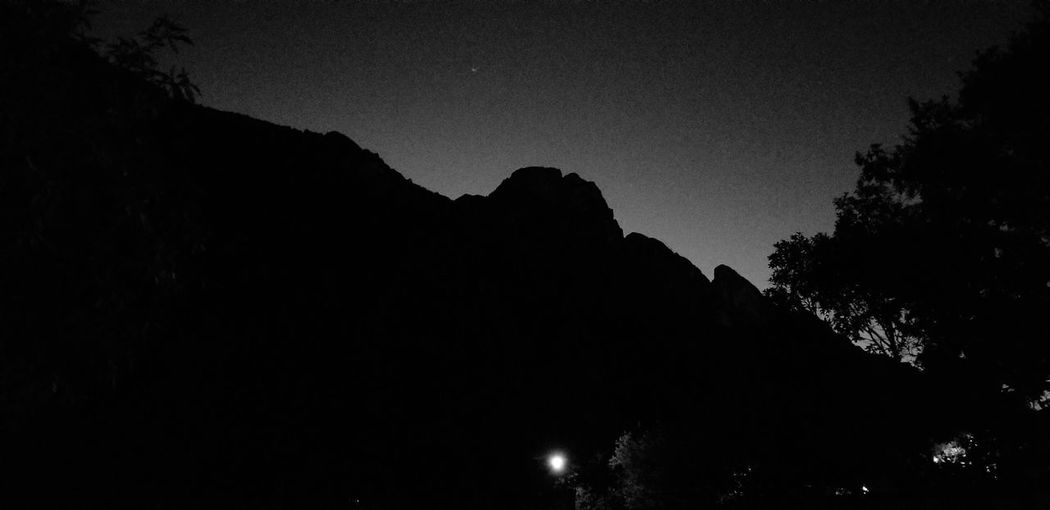 Moonglow over the Sierra Madre Blackandwhite Black And White Photography Monterrey, México Monterrey Mexico Nighttime Mountain Profiles Profile Astronomy Galaxy Tree Milky Way Star - Space Space Mountain Moon Tree Area Silhouette