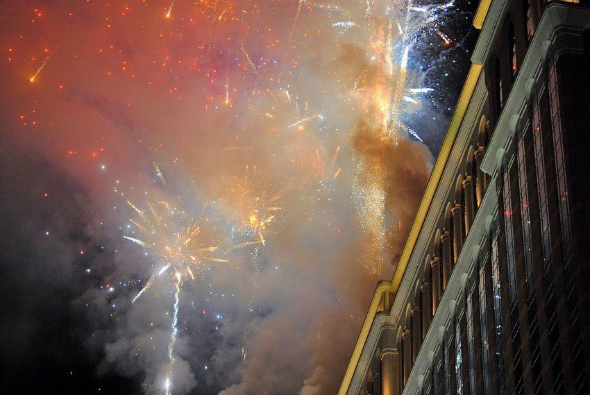 Firework Display Fireworks Night Illuminated Exploding Event Smoke - Physical Structure Building Exterior Las Vegas Night Sky Sky