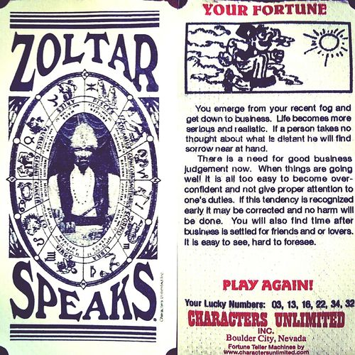 Zoltar BIG MOVIE Fortuneteller Fortune Teller Fortune Tell Me My Future OO Mission Easy To See Tom Hanks Future Zoltarspeaks Zoltar Speaks Behold Your Future awaits. Throwback to a Classic
