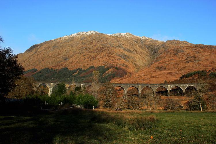 Harry Potter Natural Beauty November Scotland Beauty In Nature Bridge No People Scotland Wild Landscape Train