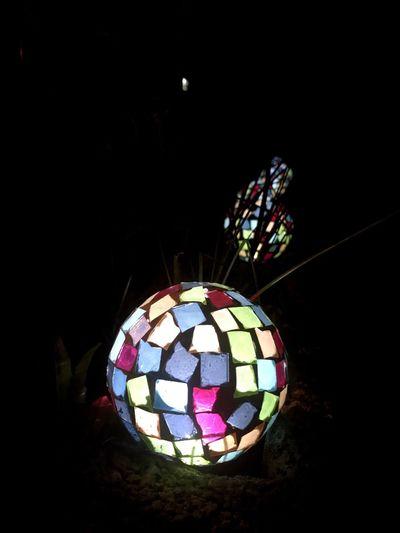 Close-up of illuminated multi colored lights