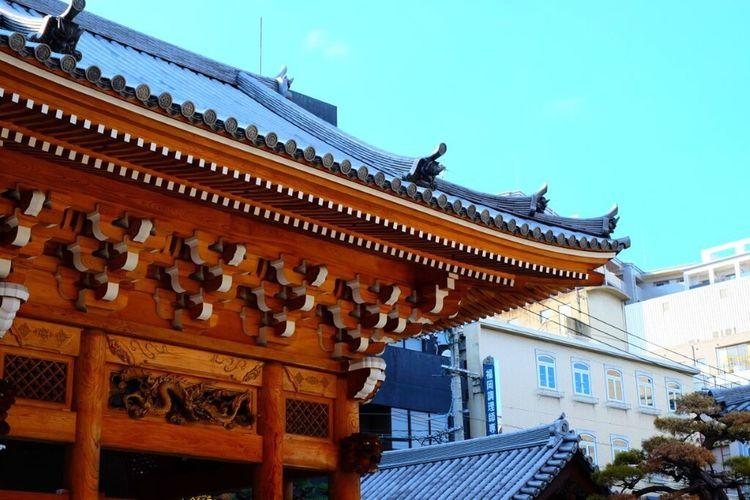 おはようございます。今朝は雨ですが気分は快晴✌🏻️さぁ今日も頑張ろう❗️ Japanese Temple Fukuoka-shi Fukuoka,Japan Fukuoka City  FUJIFILM X100S Fujifilm_xseries Sky