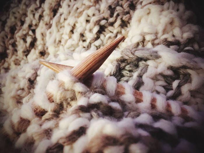 Draußen ist's kalt. Knitting Stricken Wolle  Wool Knittingisthenewyoga Stricknadel