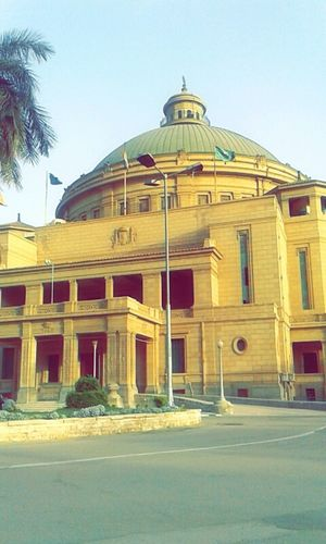 Be. Ready. Cairo University Colour Your Horizn EyeEmNewHere Press For Progress Architecture Building Exterior Built Structure City Clear Sky Day History No People Outdoors Place Of Worship Sky Travel Destinations University