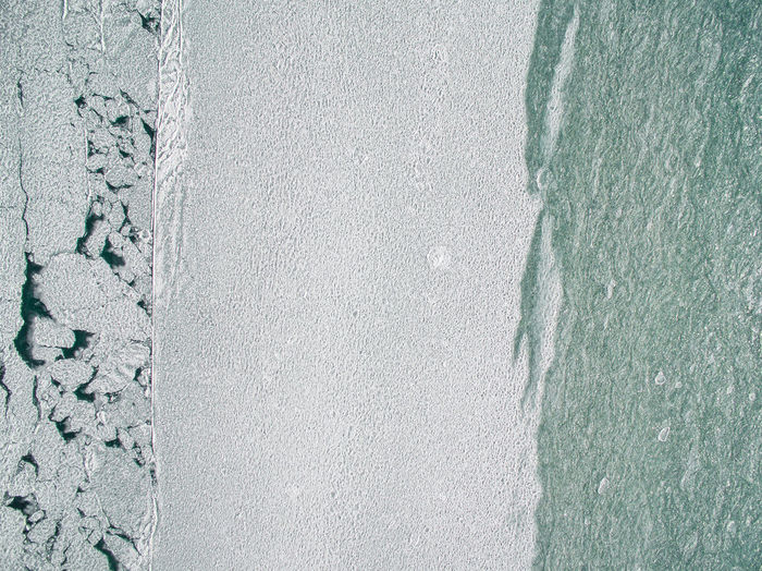 Aerial View Of Frozen Lake