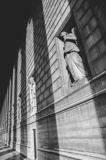 Architecture B&w Backgrounds Building Exterior Built Structure Design Engineering Exterior Exterior Full Frame Modern Opera Garnier Opéra Outdoors Pattern Pattern Pieces Plank Shadows Statue Textured  Urban Wall Ópera De Paris Dramatic Angles Black And White Friday