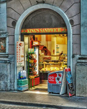 """""""Great Kabobs!"""" - Roma Rome Roma Photobydperry Door Built Structure Architecture Arch Street Streetphotography People Street Photography Sandwich Sandwich Shop Kabobs Kabob Italy Italia"""