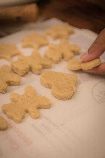 Human hand holding cookies