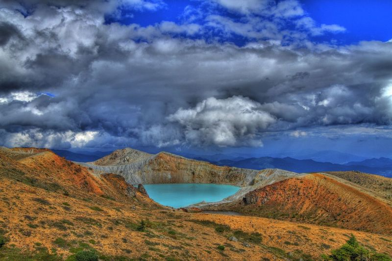 Japan Gunma Kusatsu Shigakogen  Photography HDR Hdr_Collection Nature Mountains Plateau Sky And Clouds Yugama Volcano Volcanic Lake