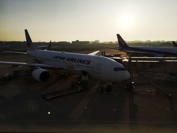 Fukuoka Airport Sunset