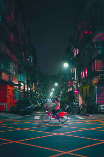 night life Bike Time To Reflect Time Pass  Monents Colors Colorful See What I See Design One Person Somewhere I Remember Light And Shadow Life Take Photos Corner Moving Dreaming Amazing View Lifestyles Dreaming EyeEm Night Shots Dream Stop Sports Race Car Sport Land Vehicle Architecture Building Exterior
