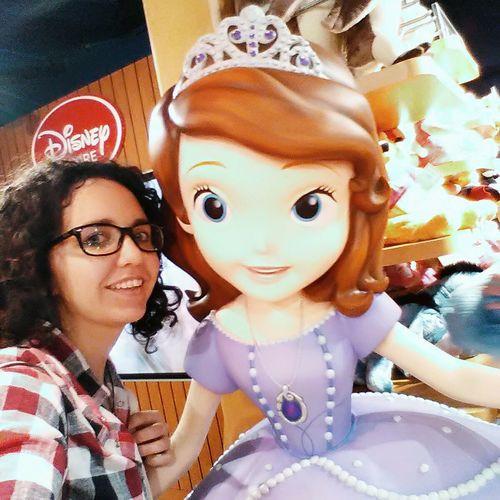 A picture with Sofia 💙 Looking At Camera Portrait Disneyshop Princesssofia Cartoon Smiling Beauty Likeachild Lovelovelove Paris ❤ 2017 Dreamcometrue