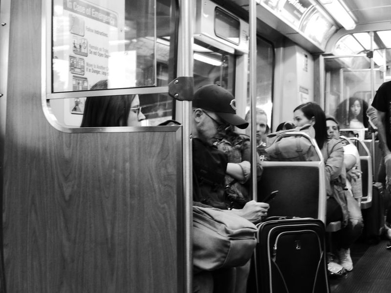 The Street Photographer - 2017 EyeEm Awards Public Transportation Train - Vehicle Subway Train Passenger Transportation Passenger Train Rail Transportation Railroad Station Men Only Men Real People Bus Adults Only Commuter Train Sitting Journey Adult People Commuter Indoors