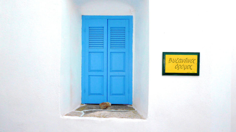 Architecture Blue And White Building Exterior Built Structure BYOPaper! Close-up Day Door Greek Architecture No People Outdoors Window Yellow