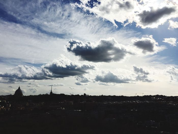 The Infinity Sky And Clouds Panorama Sky Shot Rome Italy Piazza Socrate Pzs