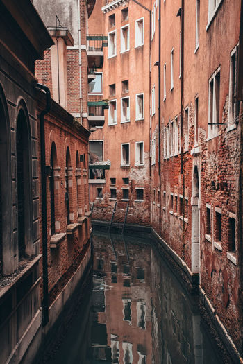 Canal amidst buildings in venice