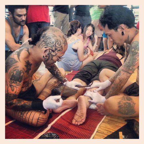 Borneo Traditional Tattoo in Sarawak Malaysia. Tattoo Malaysia Tattoo Traditional Tattoo Tattoo Artist