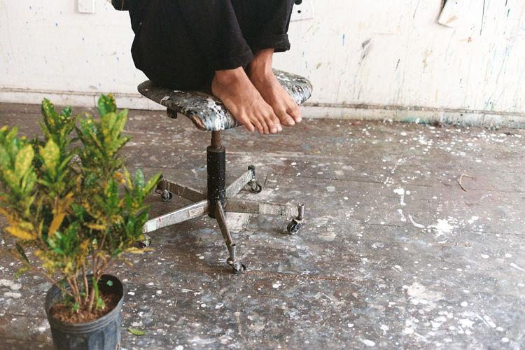 Feet Lover Fetish Painter Atelier Artist Men Human Body Part Art