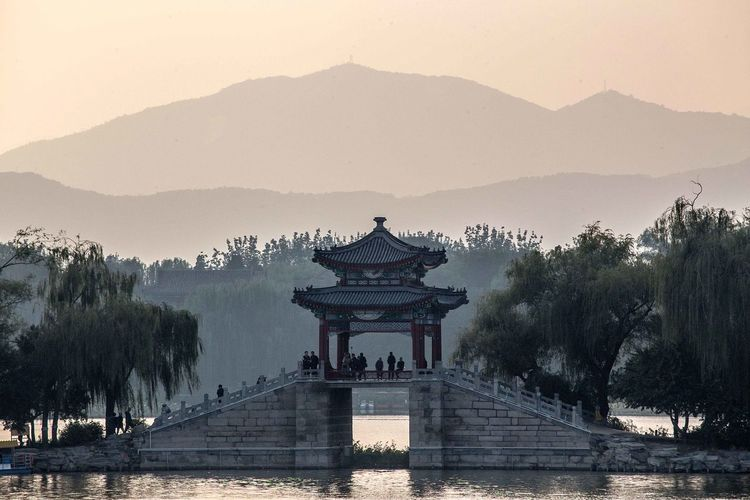 Photo taken in Beijing, China Architecture China Beijing Summer Palace Monument Park History The Past Bridge Romantic Sunset
